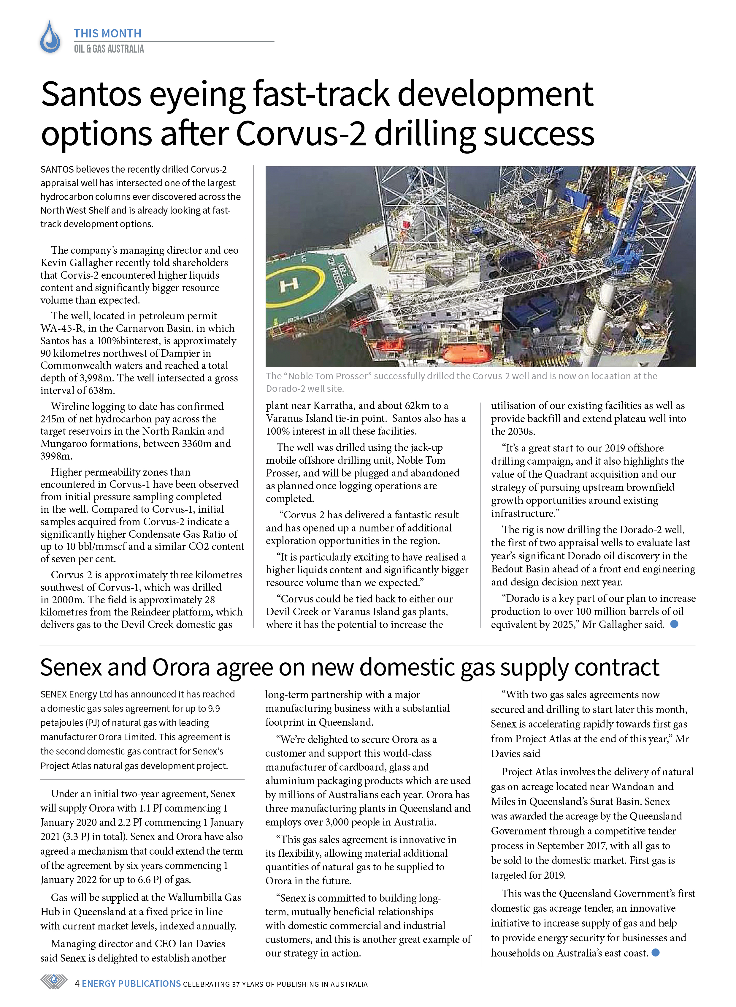 Oil & Gas Australia – May 2019 – Page 4
