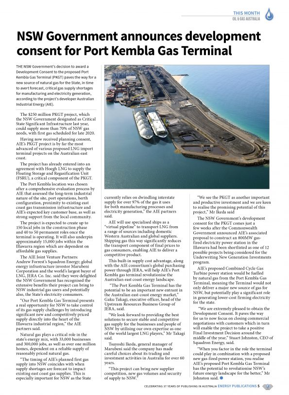 Oil & Gas Australia – May 2019 – Page 5