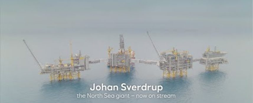 North Sea giant Johan Sverdrup is now on stream
